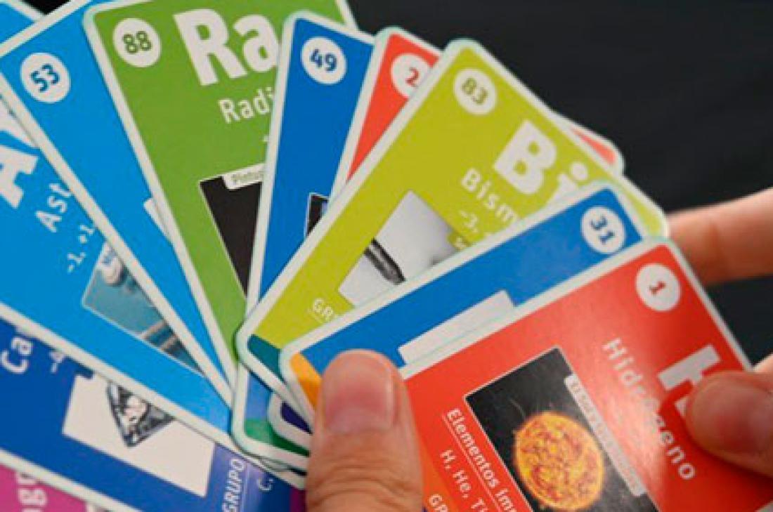 Una baraja de cartas para aprender la tabla periódica