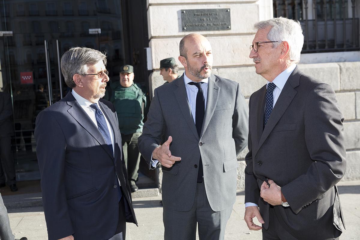 El presidente de SM, el presidente SM, el presidente de la Comunidad de Madrid y el secretario de Estado de Educación y Formación Profesional