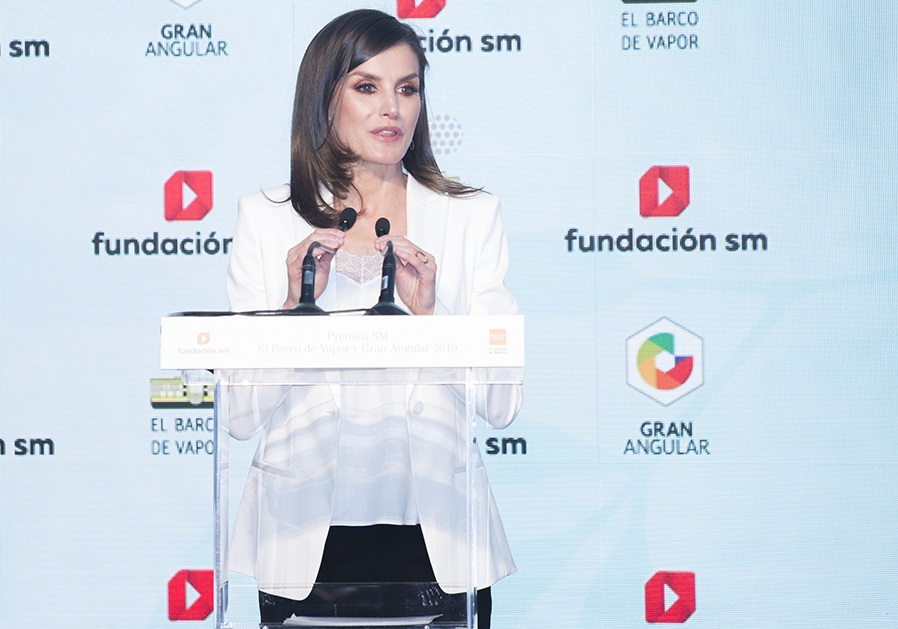 S.M. la Reina durante su discurso en los Premios SM 2019